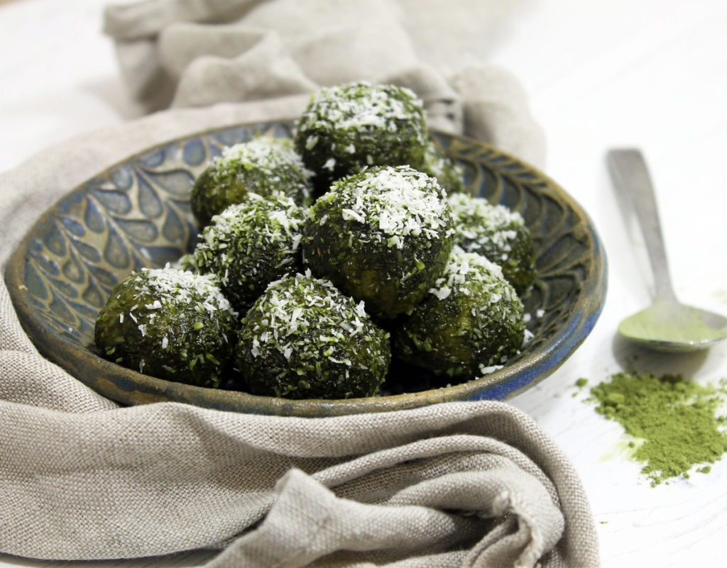 Matcha and Coconut Energy Balls